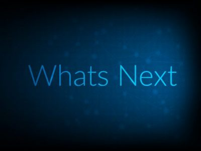 Whats Next abstract Technology Backgound